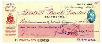 Picture of District Bank Ltd., Clitheroe, 19(43). Used