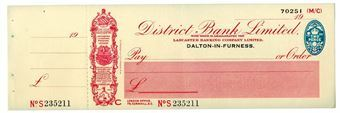Picture of District Bank Ltd., Dalton-in-Furness 19(37) Unissued