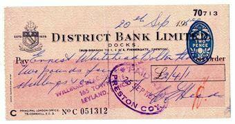 Picture of District Bank Ltd., (Preston) Docks 19(56) Used