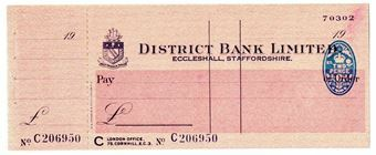 Picture of District Bank Ltd., Eccleshall, 19(43) Unissued