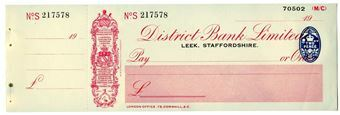 Picture of District Bank Ltd., Leek, 19(32) Unissued