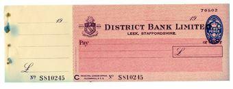 Picture of District Bank Ltd., Leek, 19(48) Unissued