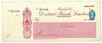 Picture of District Bank Ltd., Macclesfield, 19(30's). Unissued