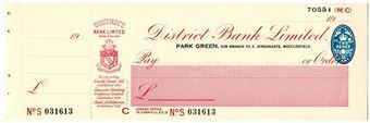 Picture of District Bank Ltd., Park Green, 19(41). Unissued