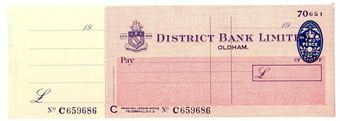 Picture of District Bank Ltd., Oldham, 19(56). Unissued