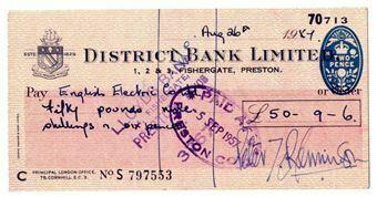 Picture of District Bank Ltd, Fishergate, Preston 19(56). Used