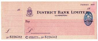 Picture of District Bank Ltd., Ulverston, 19(43). Unissued