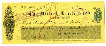 Picture of British Linen Bank, Dumfries, 19-- . Used