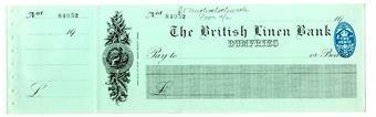 Picture of British Linen Bank, Dumfries, 19(28). Unissued.