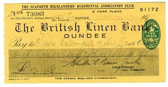 Picture of British Linen Bank, Dundee, 1940s. Used