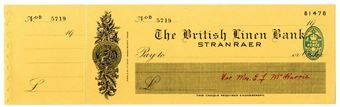 Picture of British Linen Bank, Stranraer, 19(41). Unissued