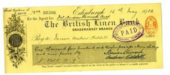 Picture of British Linen Bank, Edinburgh, Grassmarket, 19(11) Used