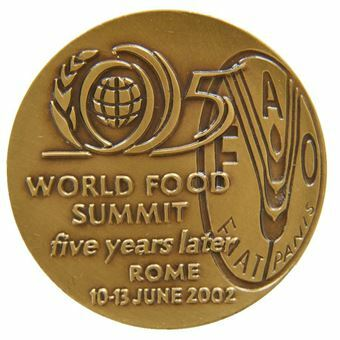Picture of UN FAO World Food Summit Bronze Medal