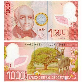 Picture of Costa Rica, 1000 colones, 2009 (P274). UNC