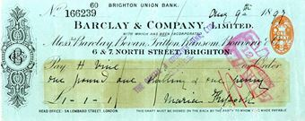 Picture of Barclay & Co. Ltd. overprint, Brighton Union Bank,18(--), OTG 2.1