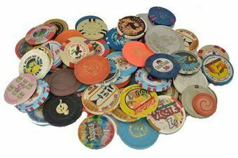 Picture of Collection of 107 Gambling Chips