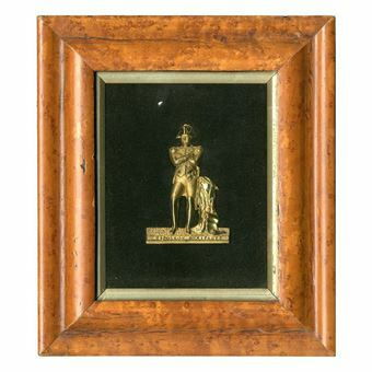 Picture of France, Napoleon, gilt brass plaque in frame
