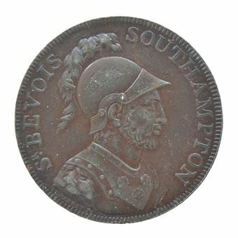 Picture of Hampshire, Southampton, Taylor & Moody Halfpenny Token, 1791
