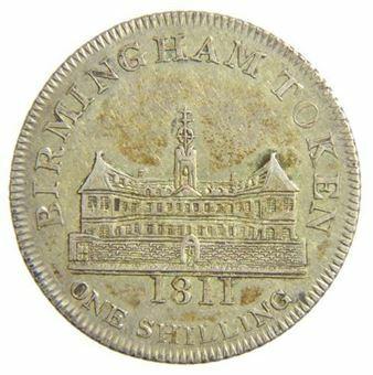 Picture of Warwickshire, Birmingham Workhouse 1/- 1811 (D6) EF