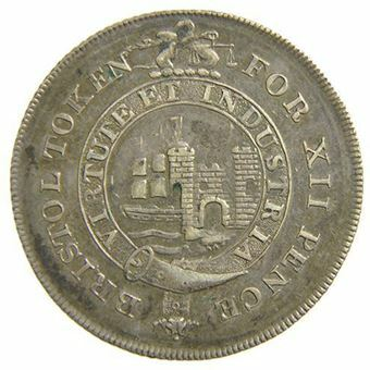 Picture of Somerset, Bristol Silver 1/- Token, 1811 (D43) EF