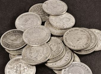 Picture of 100 Silver Threepences for Christmas Pudding