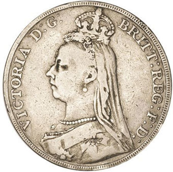 Picture of Victoria, Crown (Jubilee Head) 1889 Very Good/Fine