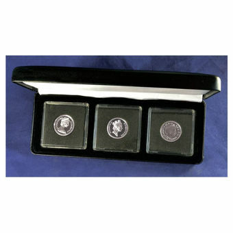 Picture of Elizabeth II, Collection of 3 Silver Proof Round Pounds (1983-2014)