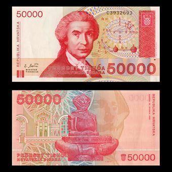 Picture of Croatia 50,000 dinara P26 Unc