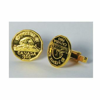 Picture of Canada Gold Plated Beaver Cufflinks