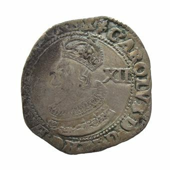 Picture of Charles I, Tower Mint Shilling About Very Fine, 1625-1649