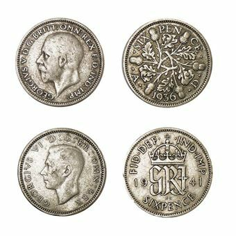 Picture of George V & George VI, Pair of Silver Sixpences.