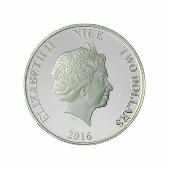 Picture of Niue, Star Wars 1 Ounce Silver $2.00, featuring Kylo Ren