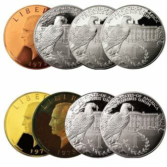 Picture of United States of America, Harry S. Truman Set of 8 dollars milled edge