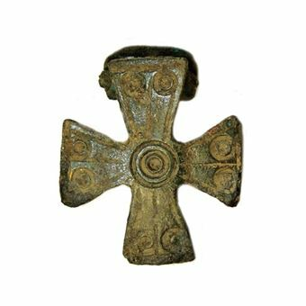 Picture of Late Roman/Early Byzantine. Bronze Plate Brooch in the form of a Cross.