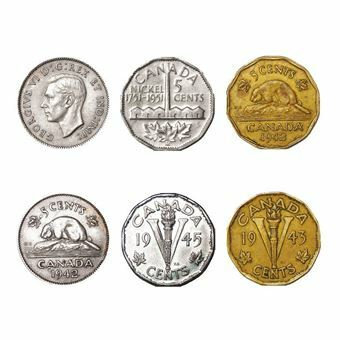 Picture of Canada, George VI 5 different 5 cents