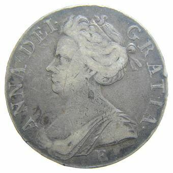 Picture of Anne, 1702-14, Crown 1708/7 E Below Bust