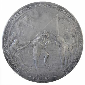 Picture of United States of America, USA Hudson-Fulton celebration medallion in Silver