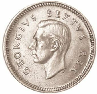 Picture of South Africa, 1952 Threepence (Extremely Fine)