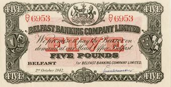Picture of Northern Ireland, Belfast Banking Co £5 1942 (Uncirculated)