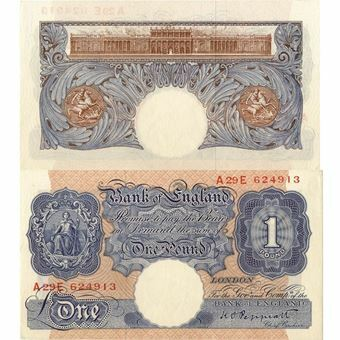 Picture of Blue Pink £1 Note - First Produced (extremely fine condition)