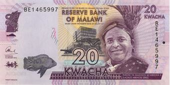 Picture of Malawi 20-200 Kwacha 2016 (4 Values) Uncirculated