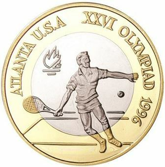 Picture of Romania, Tennis Oly Bi-metallic Piedfort