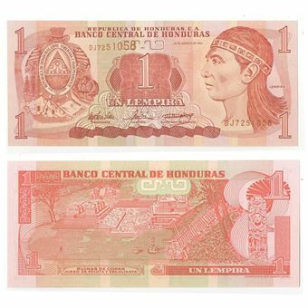 Picture of Honduras 1 Lempira 2000- 2006 P84e Unc