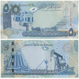 Picture of Bahrain 5 Dinars 2008 P27 Unc