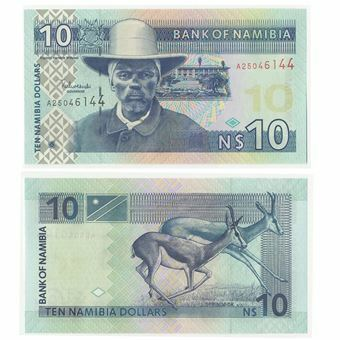 Picture of Namibia 10 Dollars (2000) P4 Unc.
