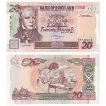 Picture of Bank Scotland £20 2004 P121e GVF-EF