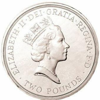 Picture of Elizabeth II, £2 (End World War II) 1995 Silver Proof