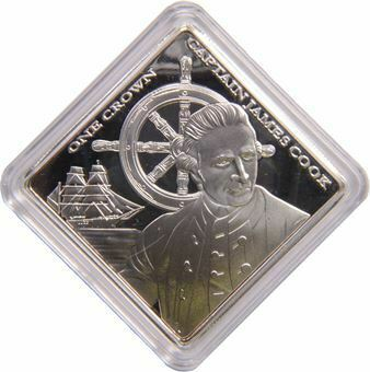Picture of Tristan da Cunha, Captain James Cook Proof Crown In Capsule