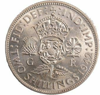 Picture of George VI,  Florin Choice Uncirculated, 1942