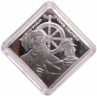 Picture of Tristan da Cunha, Marco Polo Silvered Crown In Capsule